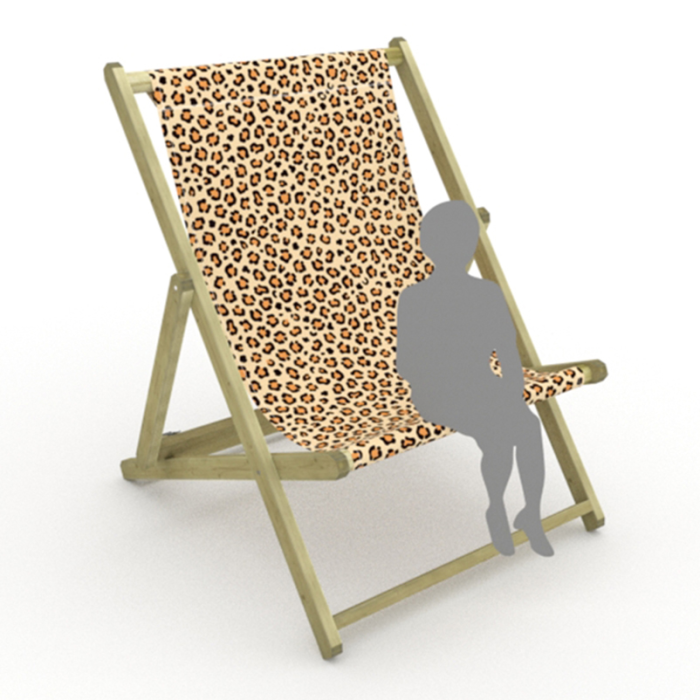 Leopard print for Saunton Giant Deckchair