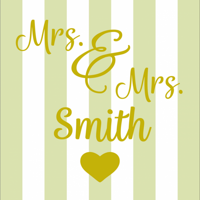 Mrs & Mrs - Customisable - Taupe print for Saunton Giant Deckchair