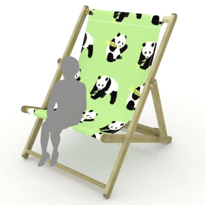 Panda print for Saunton Giant Deckchair
