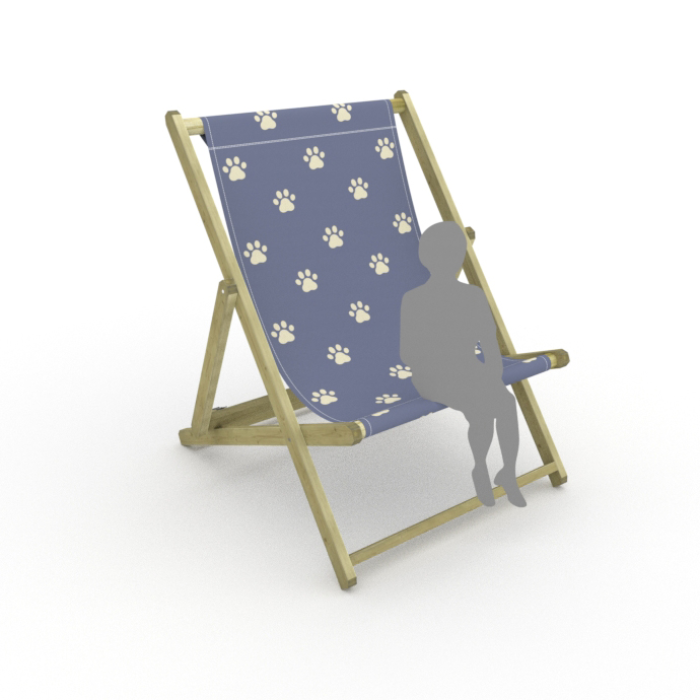 Paws Truly print for Saunton Giant Deckchair
