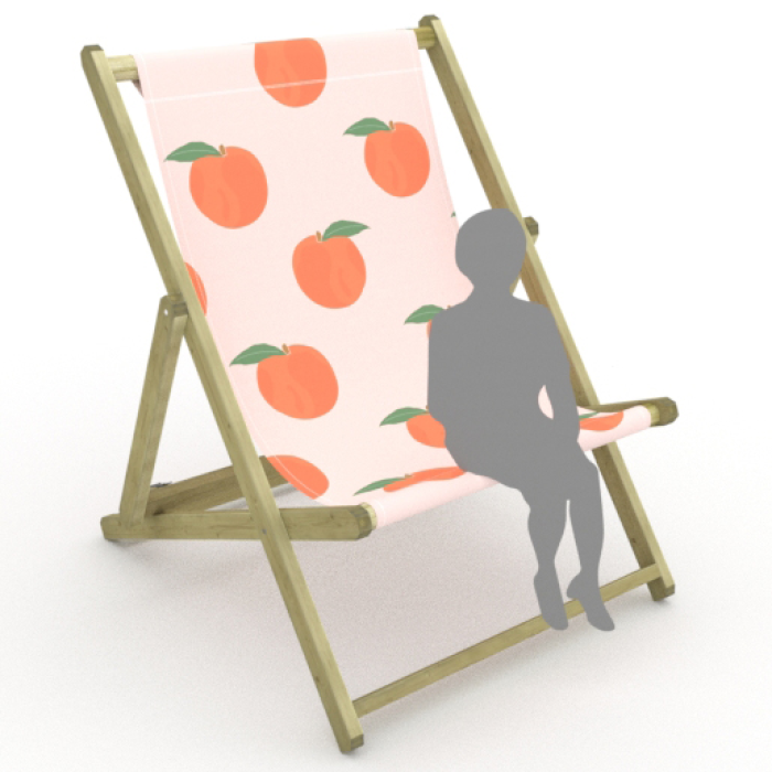Peaches print for Saunton Giant Deckchair