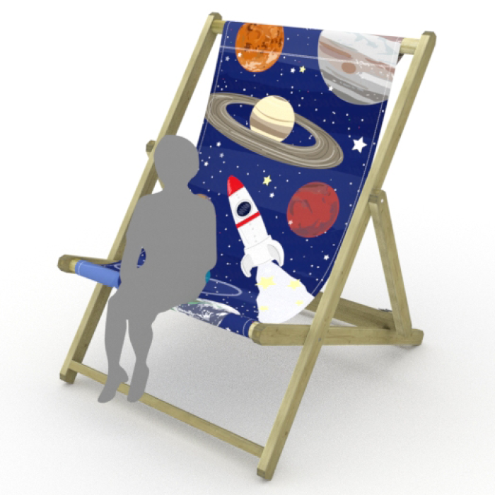 Planets print for Saunton Giant Deckchair