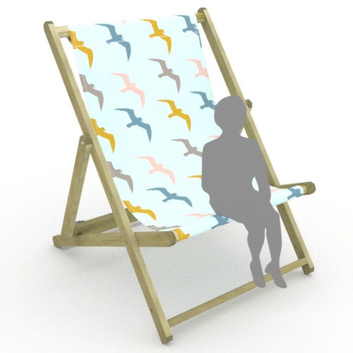 Seagulls print for Saunton Giant Deckchair