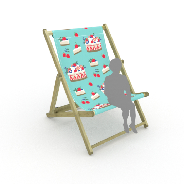 Strawberry Cheesecake print for Saunton Giant Deckchair