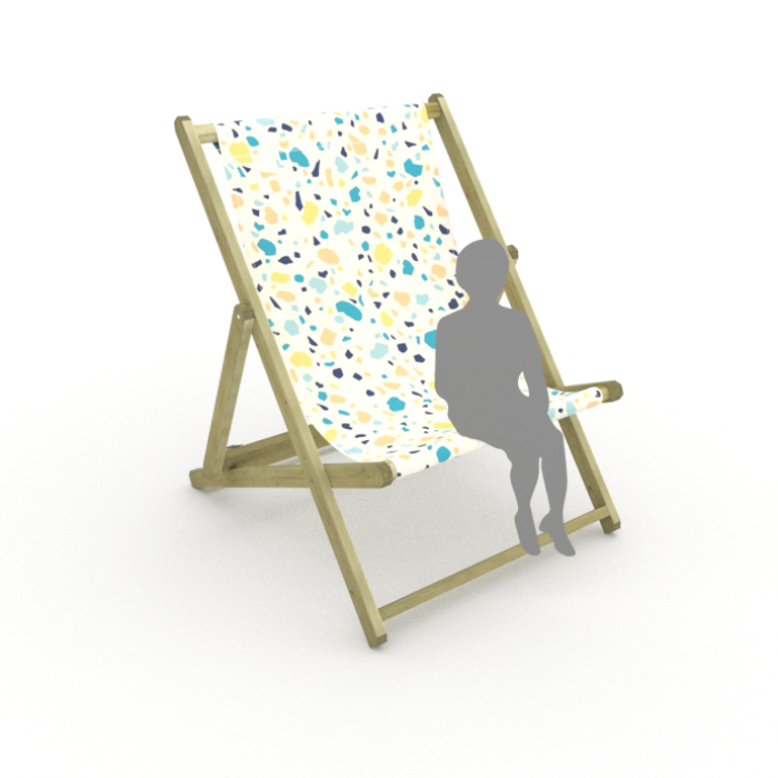 Terrazzo print for Saunton Giant Deckchair