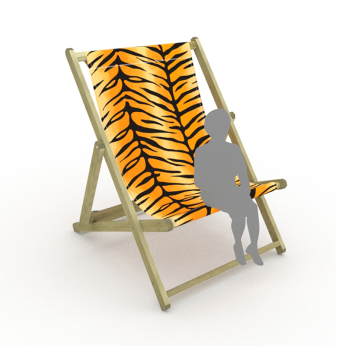 Tiger Stripes print for Saunton Giant Deckchair