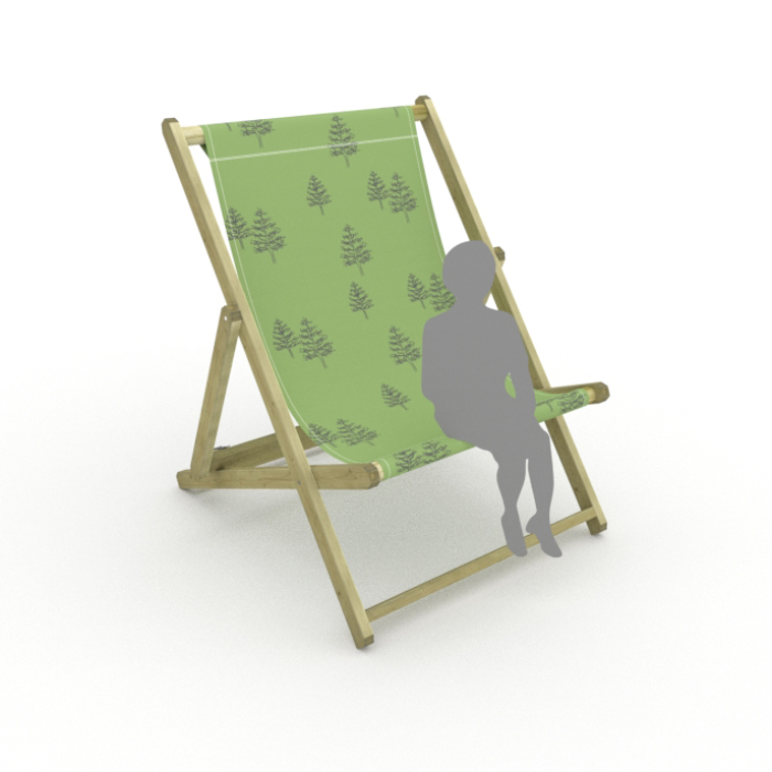 Trees print for Saunton Giant Deckchair