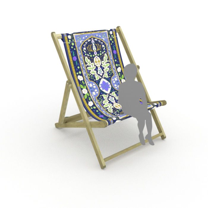 Twilight Tapestry print for Saunton Giant Deckchair