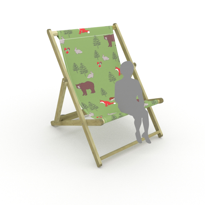 Woodland Animals print for Saunton Giant Deckchair