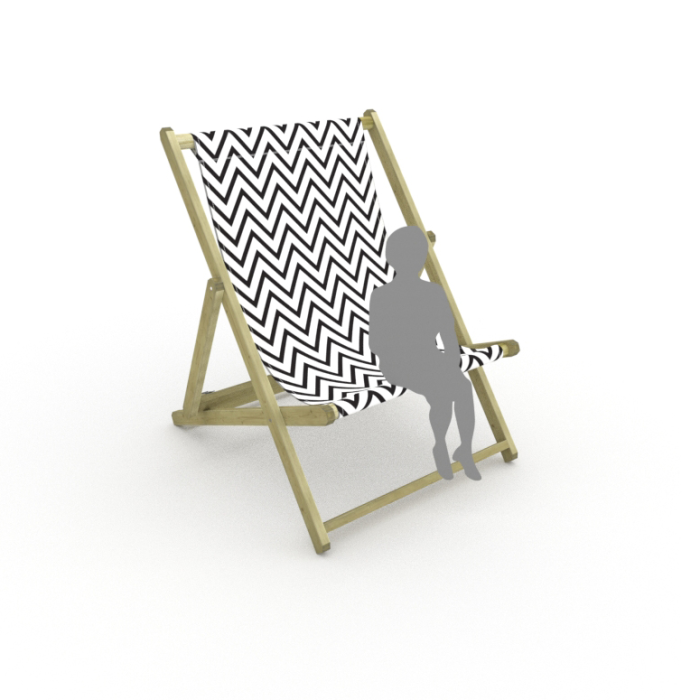 Zigzag print for Saunton Giant Deckchair