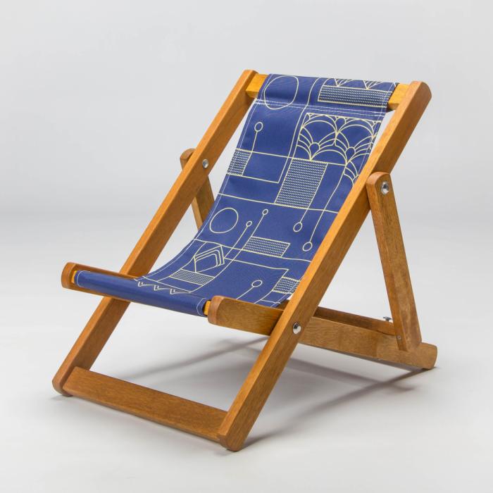 Tiny Deckchair  with Art Deco