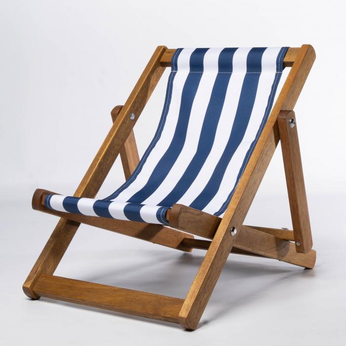 Tiny Deckchair  with Blue Stripes